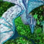 """Blue Dragon"" by Sari-Art"