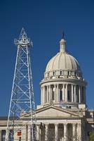 Oklahoma City, State Capitol Building and oil Dere