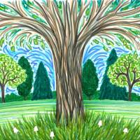 Summer Tree Art Prints & Posters by ADrawing ADay