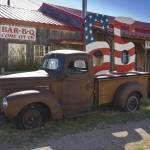 """Route 66 Adrian (mid-point of Route 66)"" by AlanCopson"