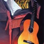 """Guitar"" by mydimensionalcanvas"