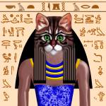 """Egyptian Goddess Bastet"" by cathighart"