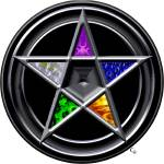"""""""Pewter Elements Pentacle"""" by cathighart"""