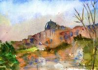 Jerusalem watercolor painting