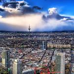 """Snowstorm is coming over Frankfurt"" by Batram"