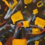 """Flying Yellow Squares"" by tomkuehl"
