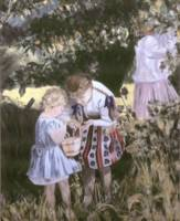 Girls Picking Berries 1960