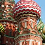 """Shapes of St. Basil Domes"" by DonnaCorless"