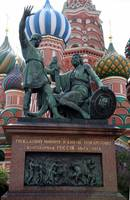 Bronzed Statue at St. Basil's Cathedral