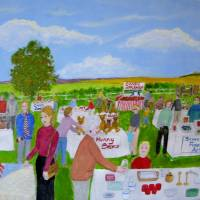 Spring Country Fair Art Prints & Posters by Fran Caldwell