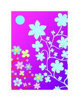 Bling Florals 8 (pink, purple, blue flowers)