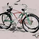 """""""Bikes on the Beach 1 light sand"""" by LeslieTillmann"""
