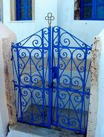 Blue Gate in Oia