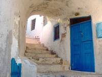 the Blue and White of Oia