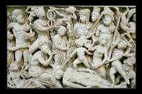 Relief Sculpture on an Ancient Roman Sarcophagus