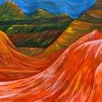 """""Mountains"" original acrylic painting"" by marnold"