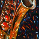 """""Saxophone"" original acrylic painting"" by marnold"