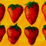 """""Strawberry Fields"" original acrylic painting"" by marnold"