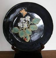 African Violets Plate