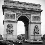 """Paris Arc de Triomphe - BW"" by cmaccubbin"