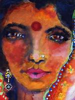 Indian Woman with Red Bindi