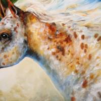 """APPALOOSA SPIRIT M BALDWIN ORIGINAL"" by MBaldwinFineArt2006"