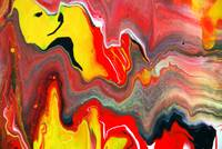 Red & Yellow Fluid Painting
