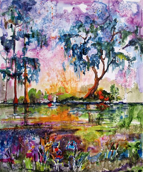 Garden Of Good And Evil Savannah Georgia Landscape By Ginette Callaway