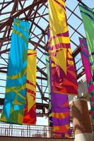 Colorful banners in Boston