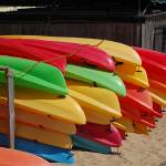 """Colorful Sea Kayaks"" by highstreetgallery"
