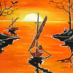 """Batik Painting - GoingFishing"" by KreasikuBatik"