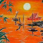 """SunsetVillage"" by KreasikuBatik"
