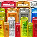 """Telephone booths"" by artheart"