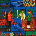 """Batik Painting - BatakDancers"" by KreasikuBatik"