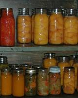 jars of fruits and vegetables