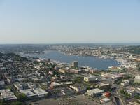 Overlooking Lake Union from the Space Needle