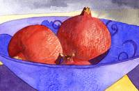 Three pomegranates