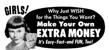 Girls! Make Extra Money, 1962 ad