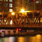"""Wells Street Bridge, Night"" by fjsjr"