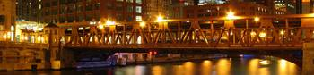 Wells Street Bridge, Night