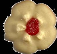 Sugar Cookie with Red Center