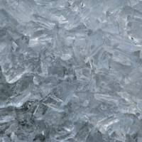 Raw Ice Chips in a Square