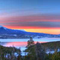 """Lake Dillon East Sunset Pano"" by scingram"