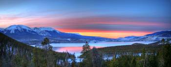Lake Dillon East Sunset Pano