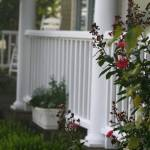 """Southern Summer Flowers and Porch"" by nadinerippelmeyer"