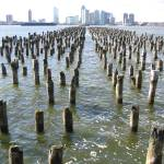 """New York Jetty Posts"" by ritzema"