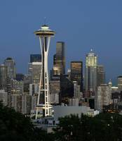 Seattle downtown with Space Needle