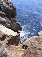 cliff overlooking pacific ocean...