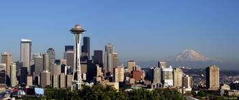 Seattle and Mt. Rainier Panorama