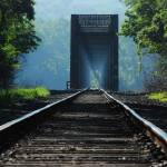 """Foggy RR bridge"" by starrienight"